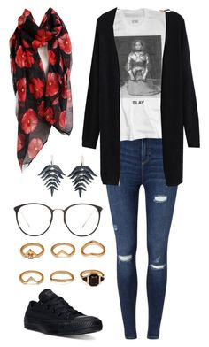 """""""Untitled #12"""" by music0blivion ❤ liked on Polyvore featuring Miss Selfridge, Converse, Linda Farrow, Forever 21 and Annette Ferdinandsen"""