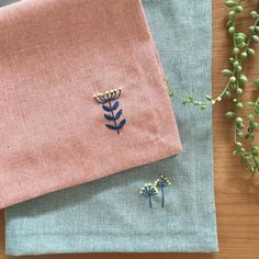 Embroidery, table mats