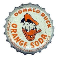 Donald Duck Orange Soda Bottle Cap, via Flickr.
