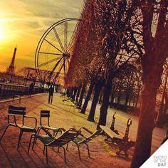 Atardecer en París..