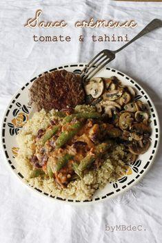 sauce crémeuse à la tomate et au tahini – Mes brouillons de cuisine