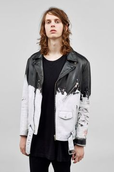 PAINTED LEATHER JACKET