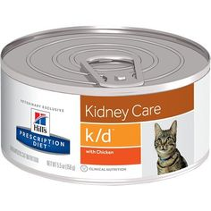 Hill's Prescription Diet k/d Kidney Care with Chicken Canned Cat Food 24/5.5 oz * Learn more by visiting the image link.