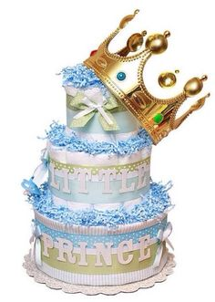 Little prince diaper cake by krazykouture on Etsy, $10.00