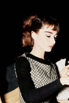 Audrey Hepburn on the set of Sabrina, 1954