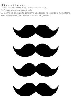 Mustache pattern. Use the printable outline for crafts, creating ...