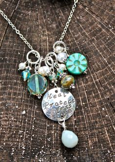 Cluster Charm Necklaces may be personalized by mermaidtears, $65.00