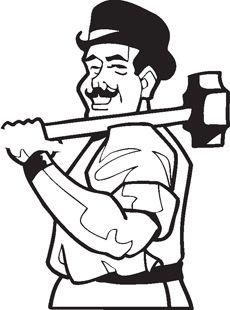 Working Man, Cartoon Characters, Image