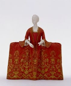 Court dress ca. 1745, the Fashion Museum in Schloss Ludwigsburg