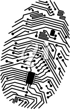 iCLIPART - Motherboard fingerprint for security or computer concept design