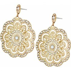 I want these! Happy Birthday to me.  Bella Lace Post Drop Earrings  available at #Brighton
