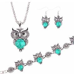 💗🔆👗 Get that chic and boho look and it's on SALE ❣💗👝 💗 ALL 250.00 ON HAND! 💗  A Suit of Faux Gem Owl Jewlry Set - Blue PRICE: Peso 250.00  #thefunstuffshop #greatdeals #onlineshop #shopping #summer #jewelries #boho #bohemian #watches #accessories