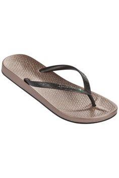 Ipanema / Different. Ipanema Flip Flops, Ipanema Sandals, Beach Sandals, Shoes Sandals, Brown Flip Flops, Mens Flip Flops, Ballerina Flats, Stripe Print, Partner
