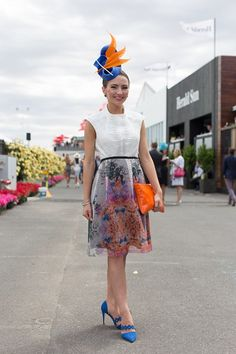 Name: Georgia Gardiner<br> Event: Melbourne Cup 2014 <br> Location… Race Day Outfits, Derby Outfits, Races Outfit, Race Day Fashion, Races Fashion, Formal Wear Women, Women Wear, Ladies Wear, Melbourne Cup Fashion