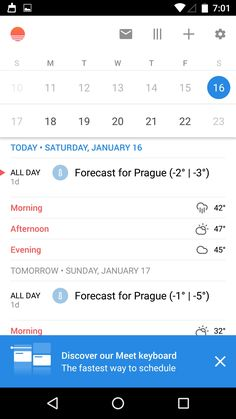 Sunrise Calendar - Android