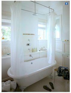Tringle rideau douche bain sur patte - Tringle salle de bain ...