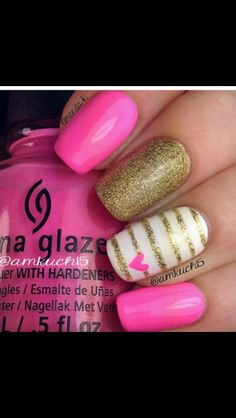 Another Valentine day nail art design Nails | Picture nail art designs