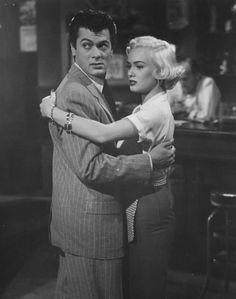 "Tony Curtis y Mamie van Doren en""The All American"", 1953"