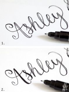 Hand Lettering a Card for a Wedding Gift via @InMyOwnStyle
