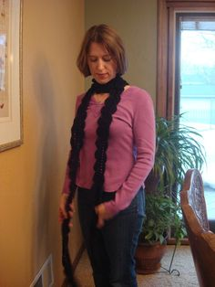 After Midnight Scalloped Scarf  HandCrocheted by PipsqueakPetites, $28.00