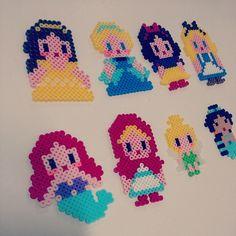 Perler bead Disney Princesses by julia8921