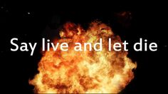 Guns N' Roses - Live and Let die Lyrics