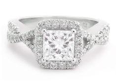 Vera Wang style inspired princess cut diamond engagement ring P66, $7250.00