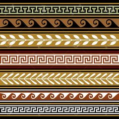 Greek Geometric Patterns Greek Set of Geometric