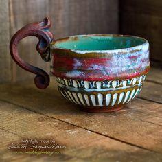 Peeling Paint Cappucino/Double Espresso Mug Set ( The Creole Courtyard Collection )