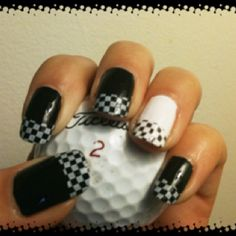 Checkerboard nails!  Find me on Facebook - Me & my nails