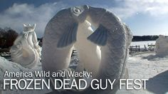 America's competitive spirit reveals itself in some wacky ways, including a Colorado coffin race, and a Wisconsin snow-sculpting competition. Watch: America Wild and Wacky: Frozen Dead Guy Fest. More @ YouTube.com/SmithsonianChannel Movies To Watch Now, Travel Stuff, Full Episodes, Coffin, Wisconsin, Documentaries, Sculpting, Pop Culture, Competition