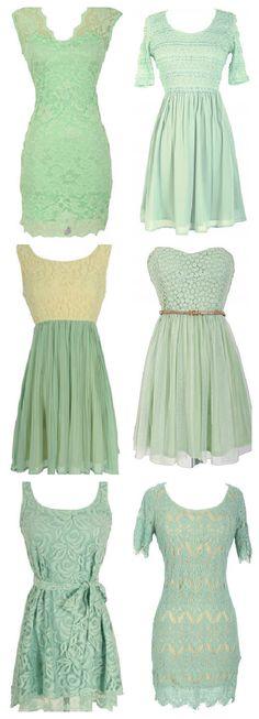 Mint Bridesmaid Dresses | tixeretne on WordPress.com.