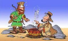 http://hacialameta.net/la-profanidad-de-esau/ ¿Que vendió Esaú? Esaú al aceptar el plato de lenteja vendió el derecho de ser hijo mayor. Observe este estudio.