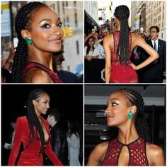 Jourdan Dunn braids / cornrows