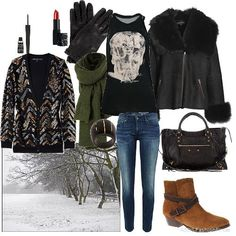 Winter rock chick | Women's Outfit | ASOS Fashion Finder