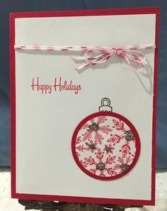 Happy Holiday Christmas Card by CraftyCardandWreaths on Etsy