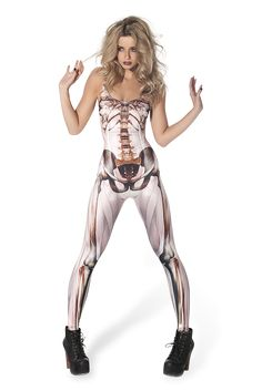 Muscle and Bone 2.0 Catsuit (48 HR) by Black Milk Clothing