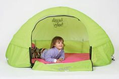 Pop Up kids cot for camping.