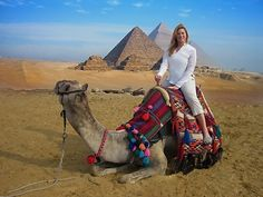 A Camel Ride around the Pyramids, Egypt