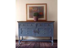 Beautiful Sideboard/Buffet,Painted In Greek Blue With Mandalas Stencilled On The Oak Top. Greek Blue, Sideboard Buffet, Top Photo, Stencils, Dining Room, Cabinet, Storage, Furniture, Beautiful