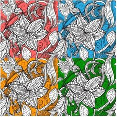 Seamless Hand Drawn Floral Patterns Royalty Free Cliparts, Vectors, And Stock Illustration. Image 8882679.