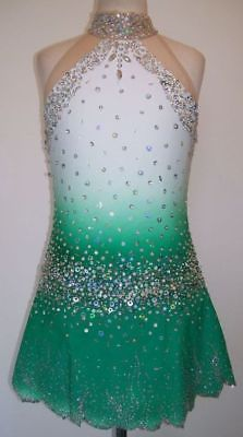 Ice Figure skating dress/Baton Twirling/Rhythmic leotard/Tap costume Made to Fit | eBay