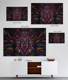 Colorful Wolf Canvas Print colorful paintings canvas, abstract canvas painting diy, little canvas paintings Fall Canvas Painting, Framing Canvas Art, Frames For Canvas Paintings, Kids Canvas Art, Tree Canvas, Abstract Canvas Art, Diy Canvas, Canvas Artwork, Canvas Prints