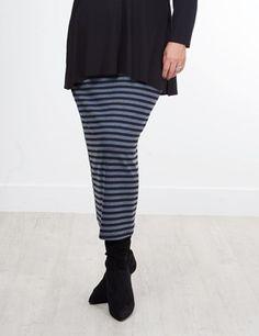 Shelly Denim/Black Skirt