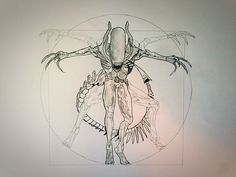 Alien vitruviano