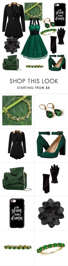 """Luck of the Irish Lace"" by qadupae on Polyvore featuring NOVICA, Olivine, Venus, Nine West, N°21, Free Press, Casetify, BillyTheTree, Jewelonfire and plus size clothing"