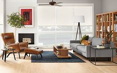 Hess Sofa with Boden Leather Chair - Living - Room & Board