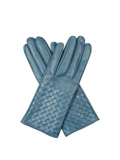 Short Bow /& Cut Out Womens Ladies Warm Turquoise Blue Vintage Driving Gloves