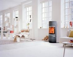 For Scan it is not just about warmth, but delivering a perfect flame, enclosed in a design-conscious piece of excellence. Simple Designs, Cool Designs, Log Burning Stoves, Loft Studio, Curved Glass, Vintage Interiors, Glass Door, Interior Inspiration, Modern Design
