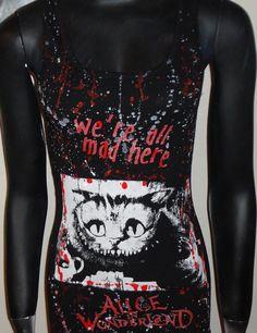 DiY Alice in Wonderland Wifebeater Cheshire Cat Tim by ellensdiy, $22.00